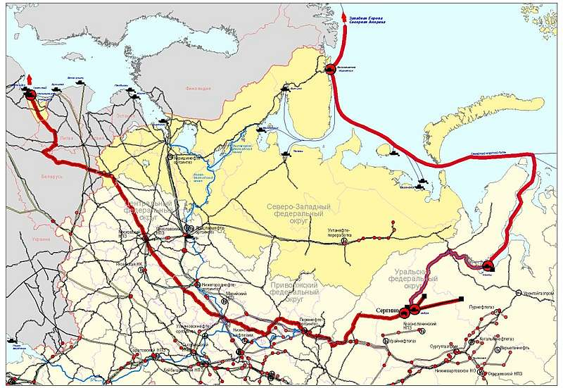 Транспортная схема ОАО «РИТЭК»