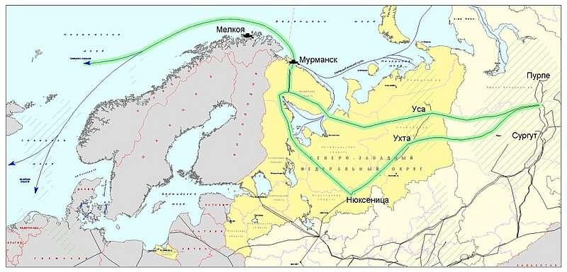 газопровода и освоения